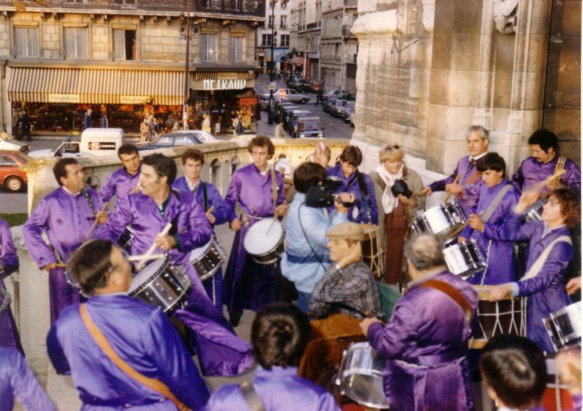 Viaje Tambores de Calanda en París 1982