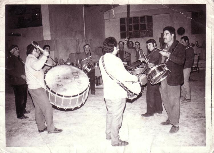 Ensayos durante los primeros años de la Cofradía a principio de los 70s
