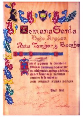 Tambor Noble Andrés Aznar