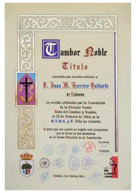 Tambor Noble Juan Herrero