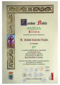 Tambor Noble Tomás Gascón