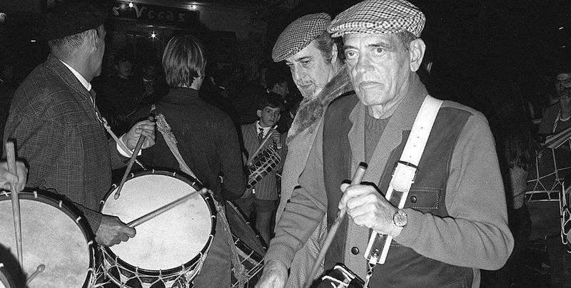 Luis Buñuel y Fernando Rey en Semana Santa Calanda 1968