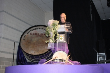 Luis Eduardo Aute en la inauguración de las Jornadas Nacionales de Exaltación del tambor, Calanda 2014
