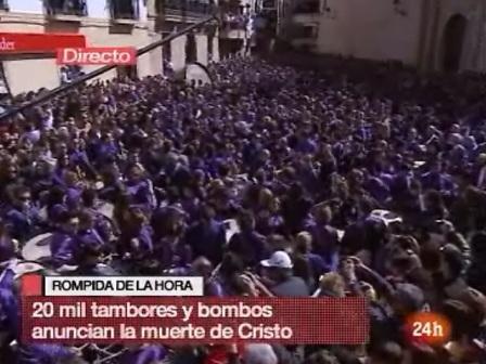 Conexión Canal 24h RTVE Rompida de la Hora Calanda