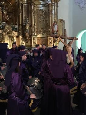 """Iglesia de Calanda antes de la Procesión de """"La Soledad"""""""