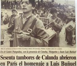 Viaje de los Tambores de Calanda a París 1982