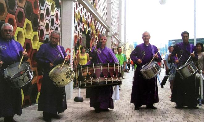 Tambores de Calanda en Expo Aichi Japón