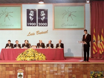 Príncipe Felipe en Calanda año 2000 inauguración CBC