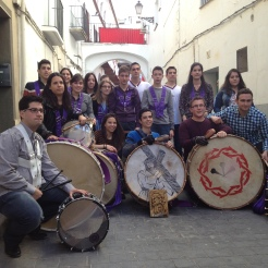 Cuadrilla Cofradía Jesús Nazareno en el 50 Aniversario del concurso de tambores Híjar