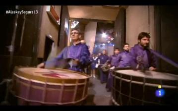 Tambores de Calanda en RTVE Alaska y Segura (Imagen del vídeo del programa)