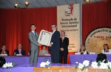 Juan Herrero con el Presidente de la Ruta del Tambor