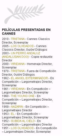 WEB oficial del Festival de Cine de Cannes