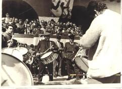 La cuadrilla de Tomás Gastón en el concurso de Tambores de Híjar