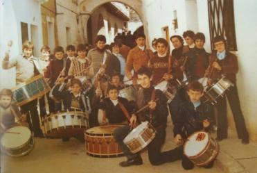 Cofradía Jesús Nazareno de Calanda - Grupo del Tío Andrés en Híjar (Foto del Facebook de Antonio Royo)
