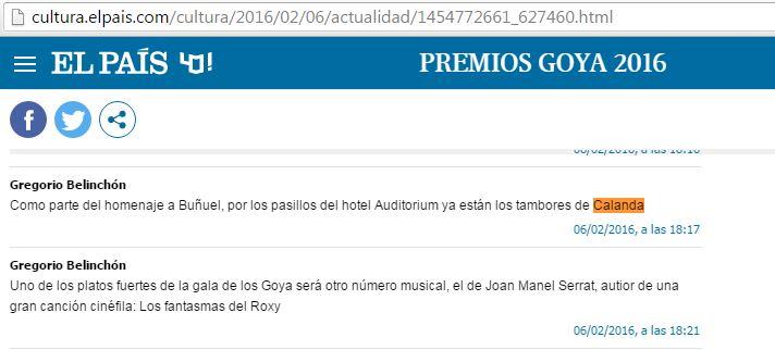 Retransmisión en directo de El País