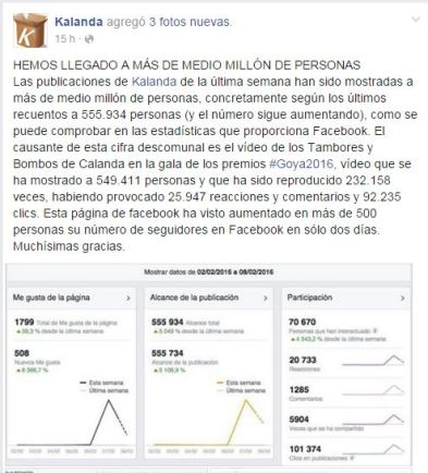 Facebook de Kalanda