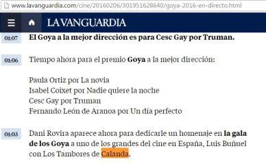Emisión en directo de La Vanguardia
