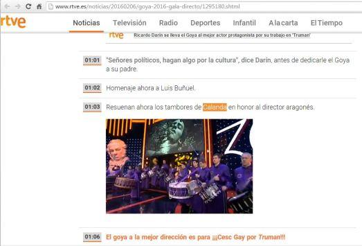 Emisión en directo de RTVE