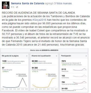 Facebook de Semana Santa de Calanda