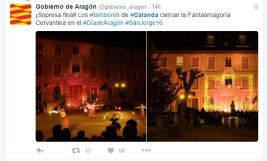 """Twitter del """"Gobierno de Aragón"""""""