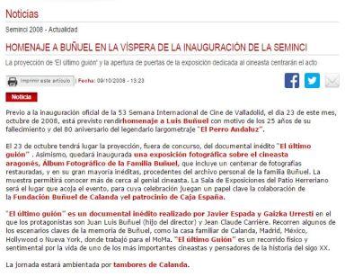 Reseña en Web Oficial Seminci