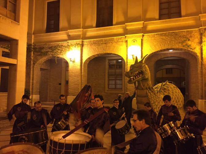 Tambores de Calanda en la celebración de San Jorge 2016