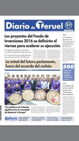 Portada Diario de Teruel