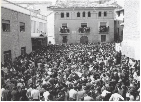 Rompida de la hora 1971 (último año en la plaza de la Hoya) - Foto de Conchita Navarro