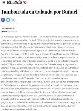 """diario """"El País"""" 23 de febrero de 2000"""