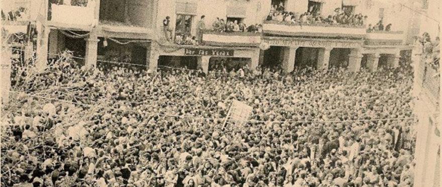 Cofradía Jesús Nazareno Calanda - Semana Santa de Calanda 1972 - Foto de Carlos Palos