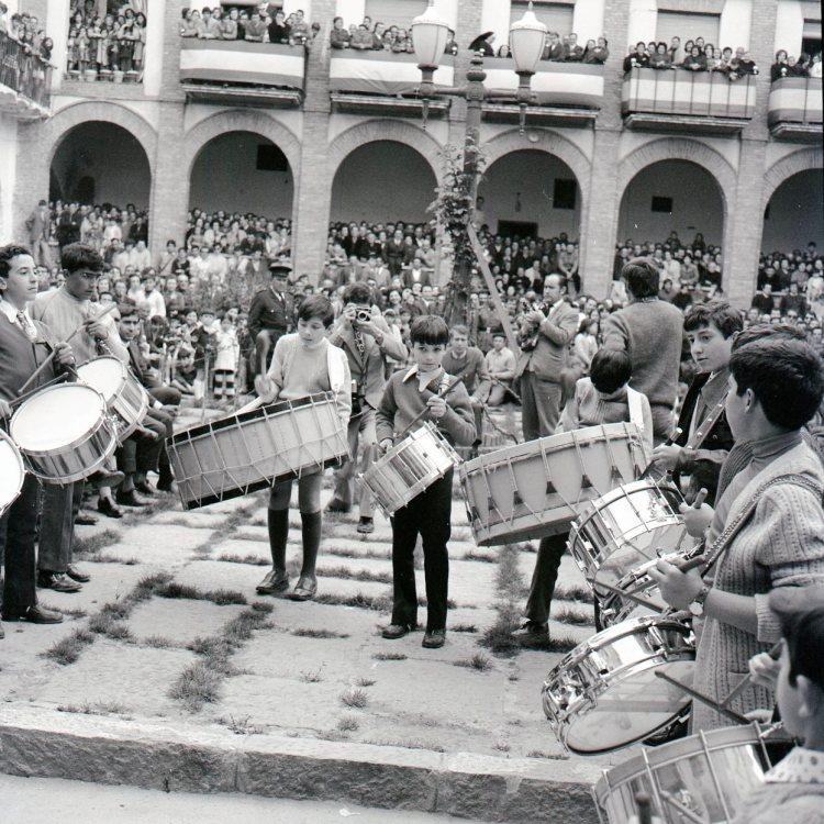 Concurso Tambores Híjar 1972 Foto cedida por José María Valls