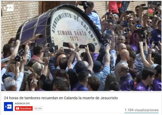 AgenciaEFE video Viernes Santo 2017 - Semana Santa Calanda