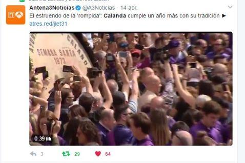 Antena3 noticias Viernes Santo 2017 - Semana Santa Calanda