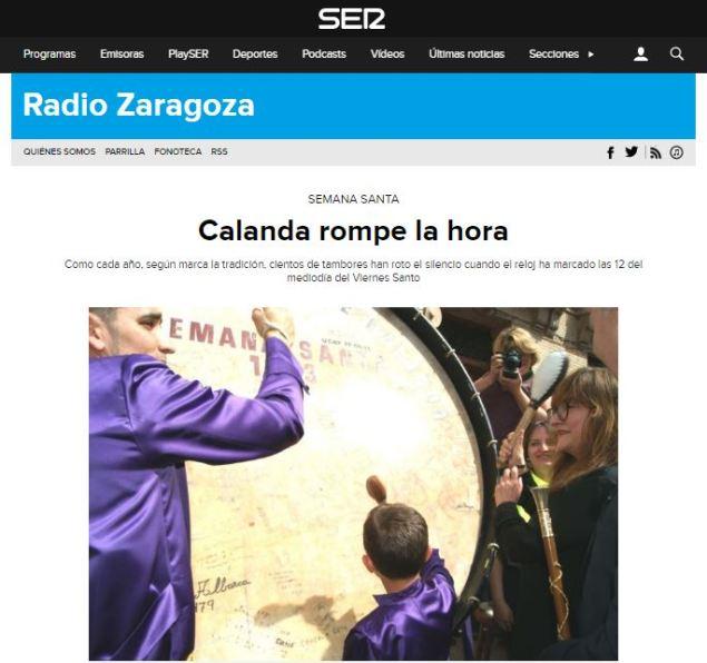 Cadena SER Viernes Santo 2017 - Semana Santa Calanda