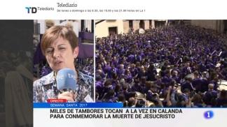 Informativos RTVE 1 Viernes Santo 2017 - Semana Santa Calanda