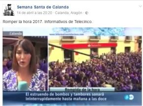 Informativos Tele5 Viernes Santo 2017 - Semana Santa Calanda