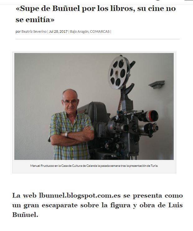 """Entrevista a Manuel Fructuoso en el periódico """"La Comarca"""""""