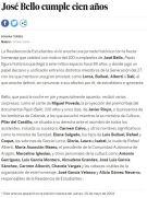 """Noticia """"El País"""" Tambores de Calanda 2004 Residencia Estudianes Madrid"""