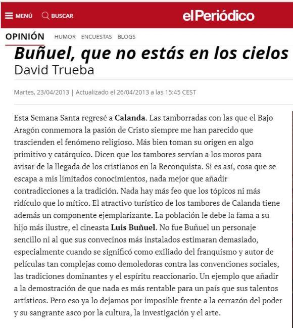 David Trueba ElPeriódico 23-04-2013