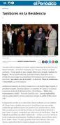 """Noticia """"El Periódico de Aragón"""" Tambores de Calanda 2004 Residencia Estudianes Madrid"""