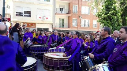 Tambores y bombos de Calanda en Alcoy San Jorge 2017