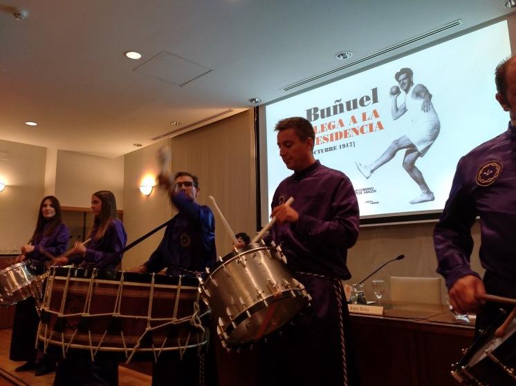 Tambores y bombos de Calanda en el 100 aniversario de la llegada de Luis Buñuel a la Residencia de Estudiantes