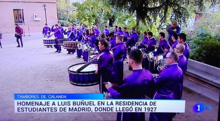 RTVE La1 - Tambores y bombos de Calanda en el 100 aniversario de la llegada de Luis Buñuel a la Residencia de Estudiantes