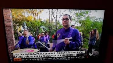 Antena 3 - Tambores y bombos de Calanda en el 100 aniversario de la llegada de Luis Buñuel a la Residencia de Estudiantes