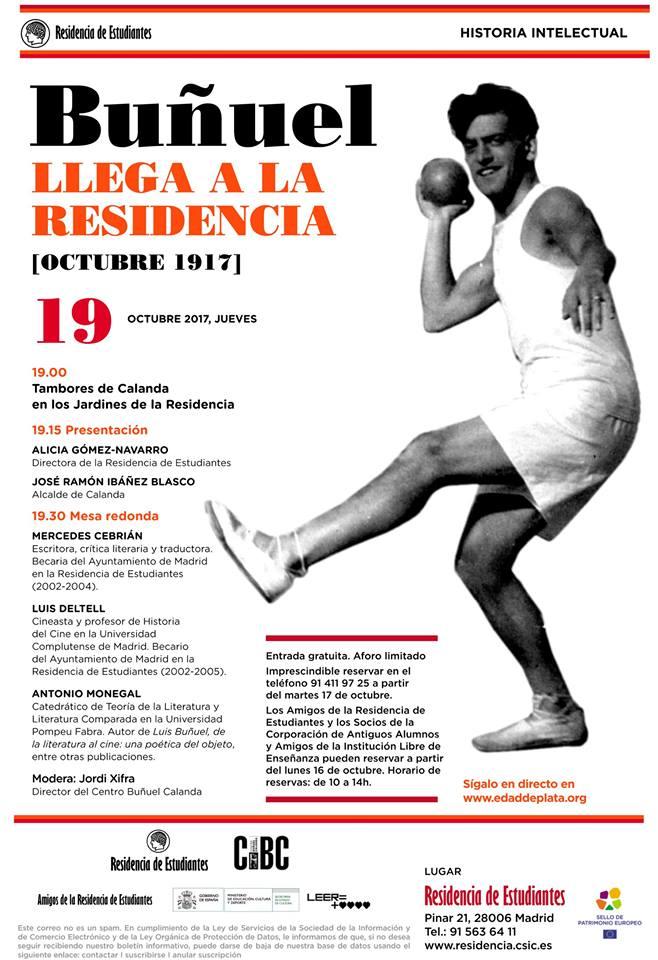 Centenario de la llegada de Luis Buñuel a la Residencia de Estudiantes Madrid