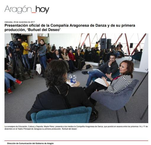 Gobierno de Aragón Presentación Buñuel del deseo