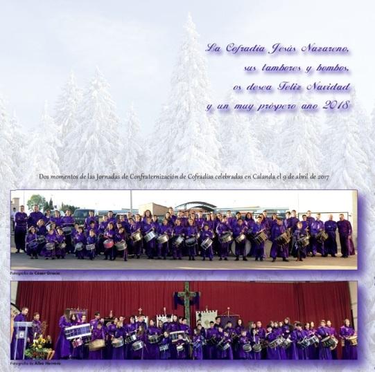 Felicitación Navidad 2017 Cofradía Jesús Nazareno de Calanda