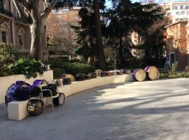 Tambores y bombos de Calanda en el museo Lázaro Galdiano (Foto de Carlos Palos Bondía)
