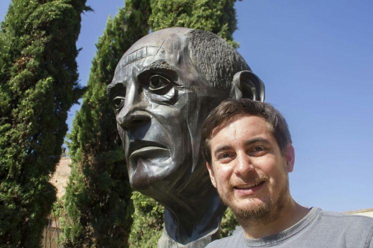 Mario Barro en el Centro Buñuel Calanda (Foto de Manuel Herrero Poblador)
