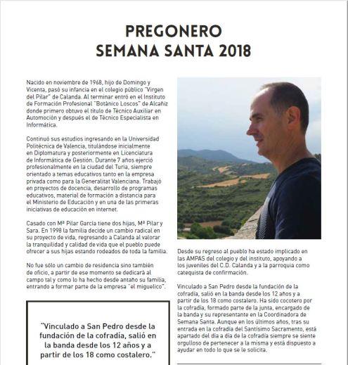 Revista Oficial Semana Santa de Calanda 2018
